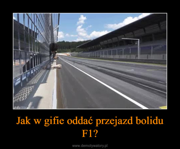 Jak w gifie oddać przejazd bolidu F1? –
