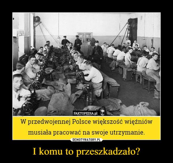 I komu to przeszkadzało? –  W przedwojennej Polsce większość więźniów musiała pracować na swoje utrzymanie.