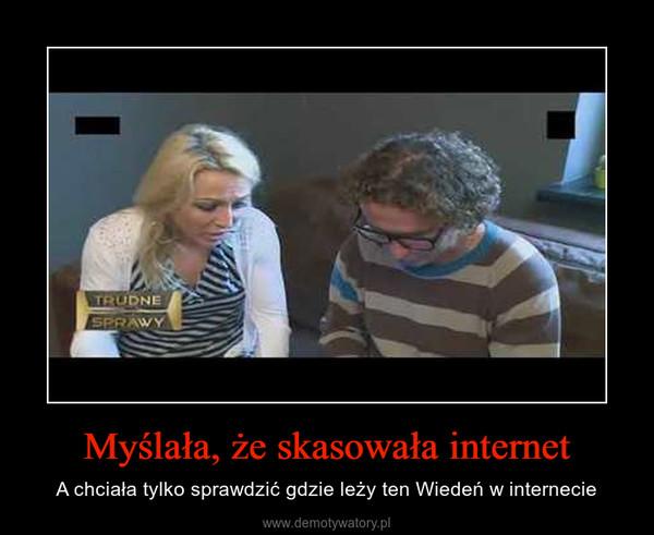 Myślała, że skasowała internet – A chciała tylko sprawdzić gdzie leży ten Wiedeń w internecie