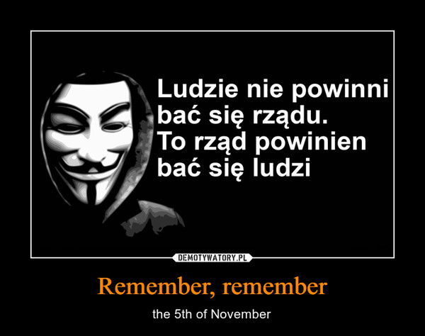 Remember, remember – the 5th of November