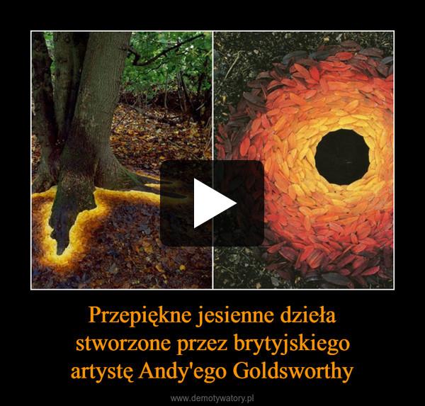 Przepiękne jesienne dziełastworzone przez brytyjskiegoartystę Andy'ego Goldsworthy –