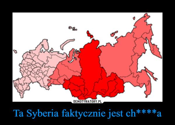 Ta Syberia faktycznie jest ch****a –
