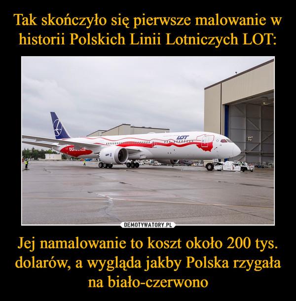 Jej namalowanie to koszt około 200 tys. dolarów, a wygląda jakby Polska rzygała na biało-czerwono –
