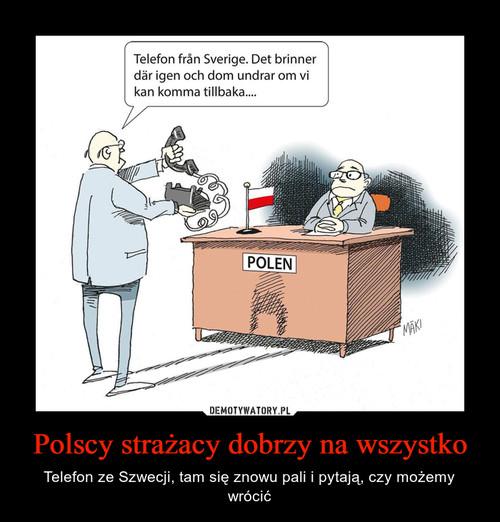 Polscy strażacy dobrzy na wszystko