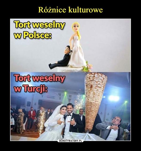 –  Tort weselny w Polsce:Tort weselny w Turcji: