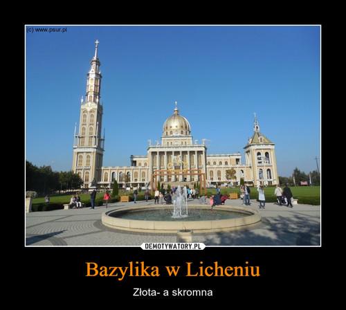 Bazylika w Licheniu