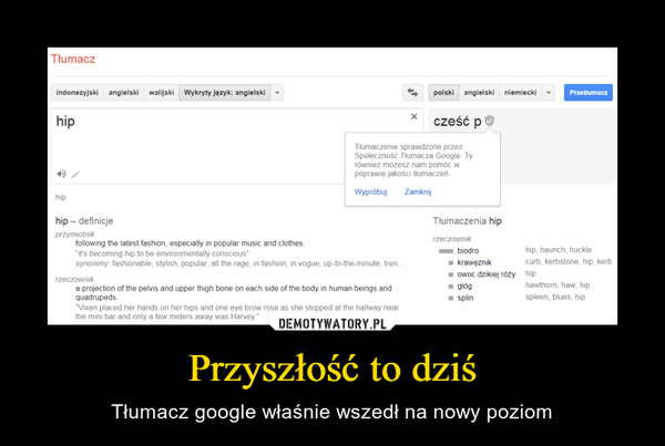 Przyszłość to dziś – Tłumacz google właśnie wszedł na nowy poziom
