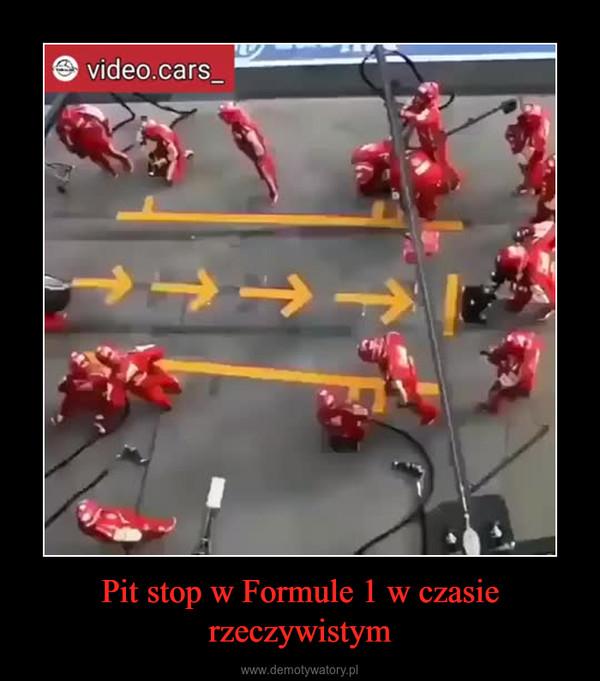 Pit stop w Formule 1 w czasie rzeczywistym –
