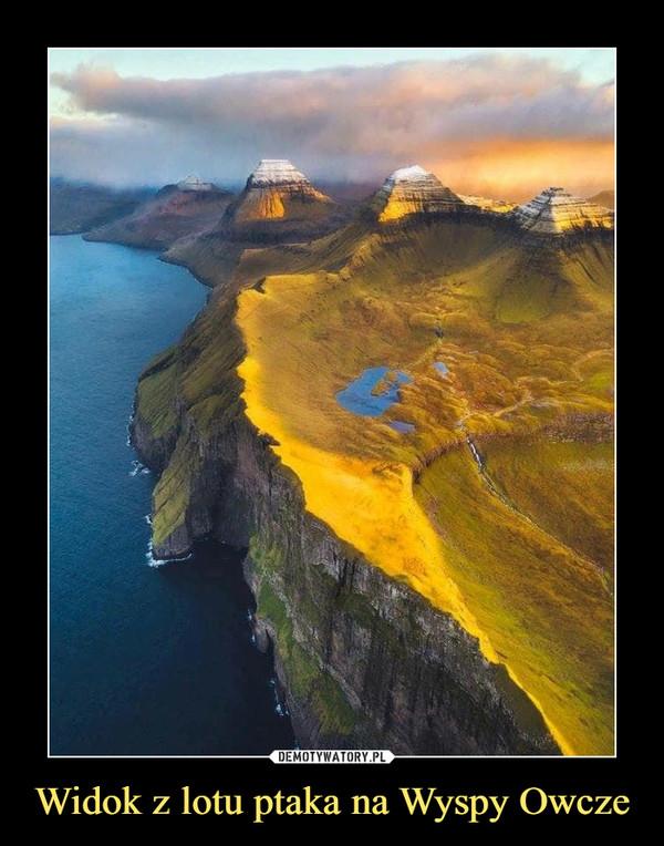 Widok z lotu ptaka na Wyspy Owcze –