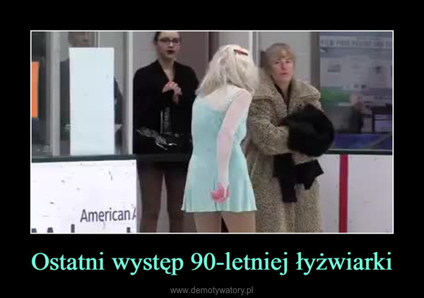 Ostatni występ 90-letniej łyżwiarki –