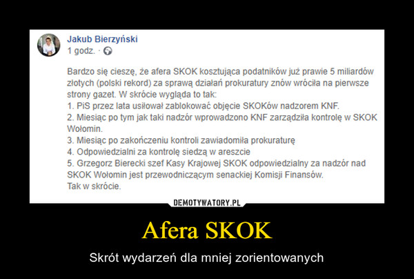 Afera SKOK – Skrót wydarzeń dla mniej zorientowanych