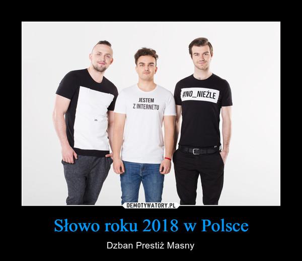 Słowo roku 2018 w Polsce – Dzban Prestiż Masny