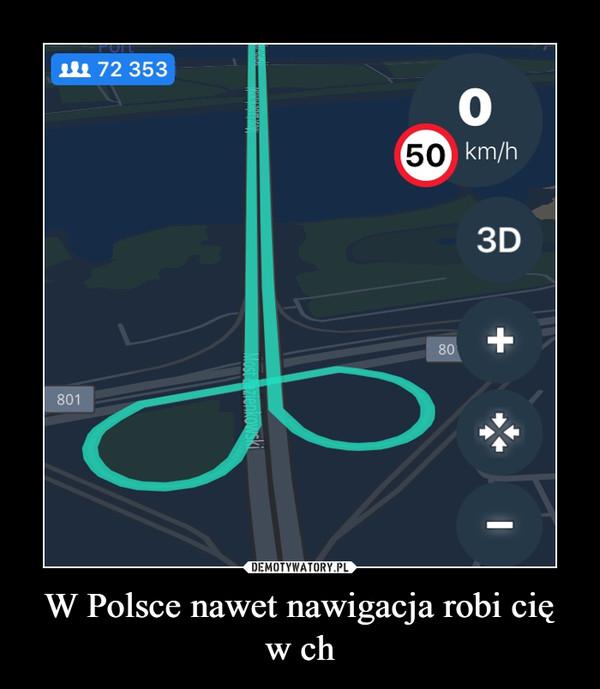 W Polsce nawet nawigacja robi cię w ch –