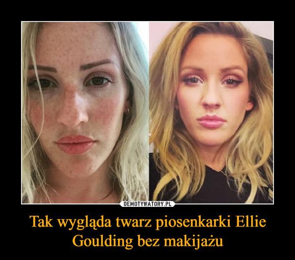 Tak wygląda twarz piosenkarki Ellie Goulding bez makijażu –
