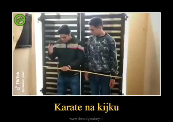 Karate na kijku –