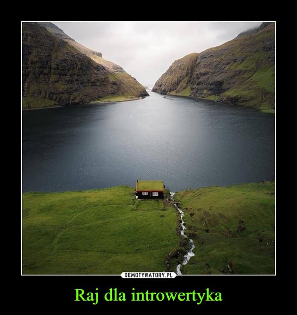Raj dla introwertyka –