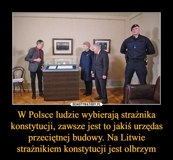 W Polsce ludzie wybierają strażnika konstytucji, zawsze jest to jakiś urzędas przeciętnej budowy. Na Litwie strażnikiem konstytucji jest olbrzym –
