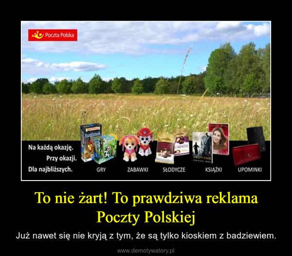 To nie żart! To prawdziwa reklama Poczty Polskiej – Już nawet się nie kryją z tym, że są tylko kioskiem z badziewiem.