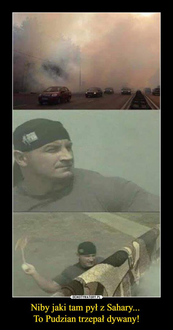 Niby jaki tam pył z Sahary... To Pudzian trzepał dywany! –