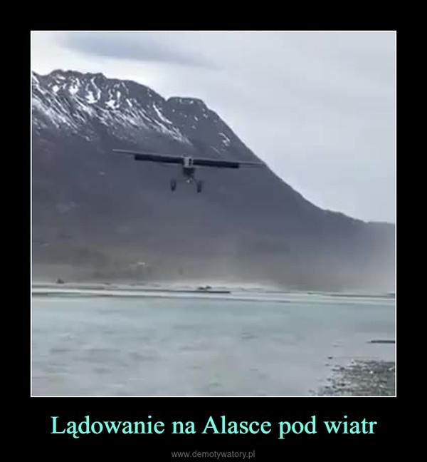 Lądowanie na Alasce pod wiatr –