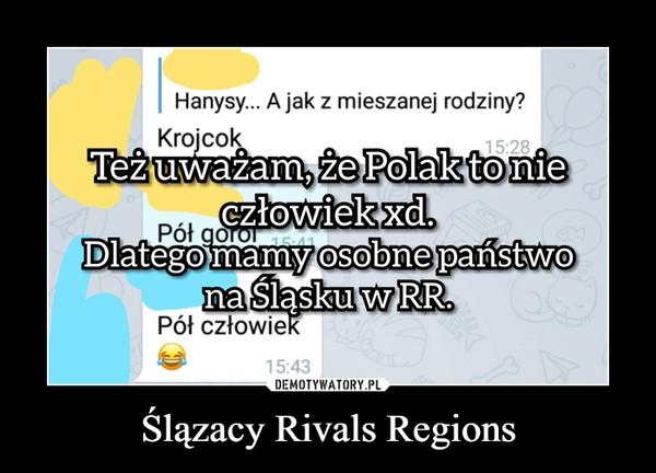 Ślązacy Rivals Regions –