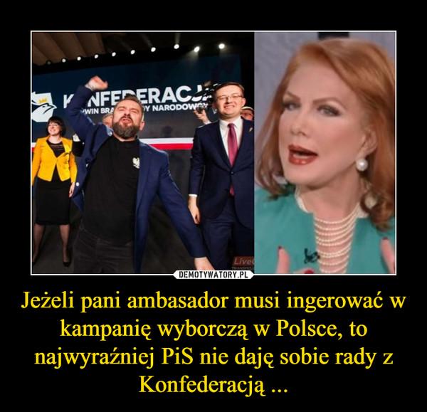 Jeżeli pani ambasador musi ingerować w kampanię wyborczą w Polsce, to najwyraźniej PiS nie daję sobie rady z Konfederacją ... –