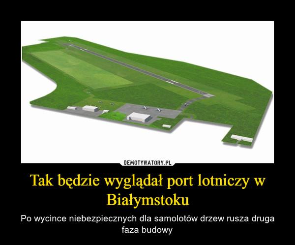 Tak będzie wyglądał port lotniczy w Białymstoku – Po wycince niebezpiecznych dla samolotów drzew rusza druga faza budowy