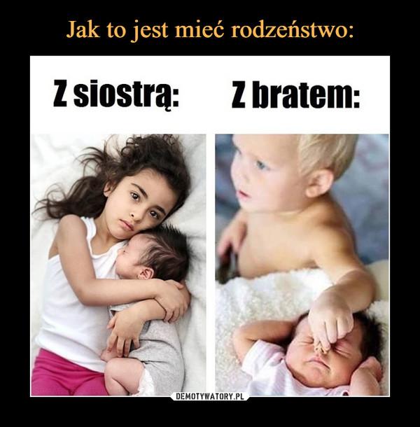 –  Z siostrąz bratem