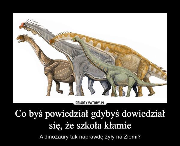 Co byś powiedział gdybyś dowiedział się, że szkoła kłamie – A dinozaury tak naprawdę żyły na Ziemi?