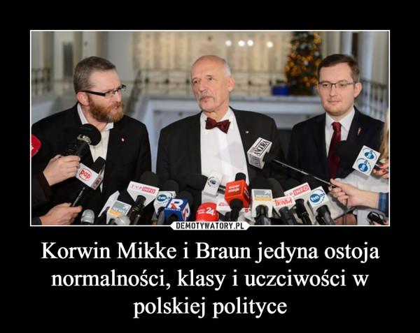 Korwin Mikke i Braun jedyna ostoja normalności, klasy i uczciwości w polskiej polityce –
