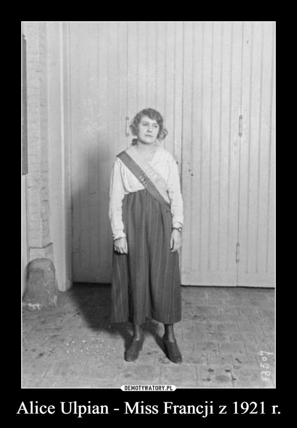 Alice Ulpian - Miss Francji z 1921 r. –