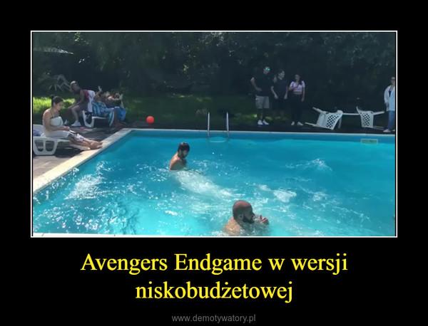 Avengers Endgame w wersji niskobudżetowej –
