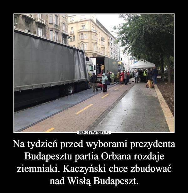Na tydzień przed wyborami prezydenta Budapesztu partia Orbana rozdaje ziemniaki. Kaczyński chce zbudować nad Wisłą Budapeszt. –