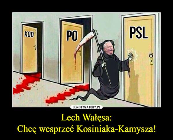 Lech Wałęsa:Chcę wesprzeć Kosiniaka-Kamysza! –