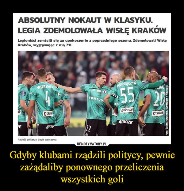 Gdyby klubami rządzili politycy, pewnie zażądaliby ponownego przeliczenia wszystkich goli –  Absolutny nokaut w klasyku. Legia zdemolowała Wisłę KrakówLegioniści zemścili się za upokorzenie z poprzedniego sezonu. Zdemolowali Wisłę Kraków, wygrywając z nią 7:0.