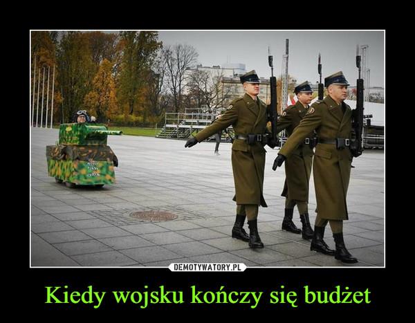 Kiedy wojsku kończy się budżet –