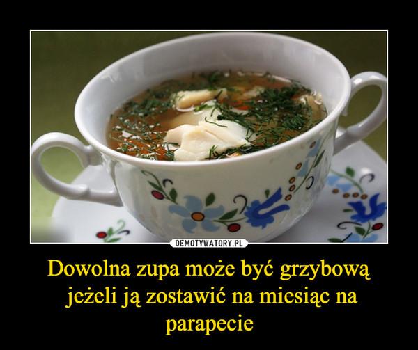 Dowolna zupa może być grzybową jeżeli ją zostawić na miesiąc na parapecie –
