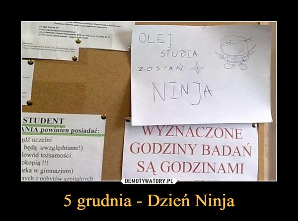 5 grudnia - Dzień Ninja –