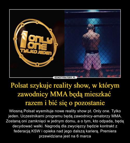Polsat szykuje reality show, w którym zawodnicy MMA będą mieszkać  razem i bić się o pozostanie