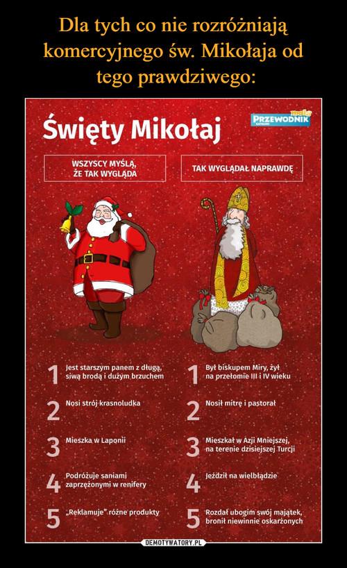 Dla tych co nie rozróżniają komercyjnego św. Mikołaja od  tego prawdziwego: