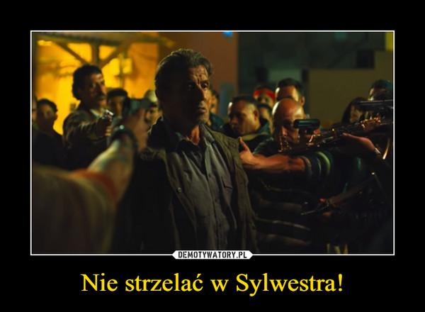 Nie strzelać w Sylwestra! –