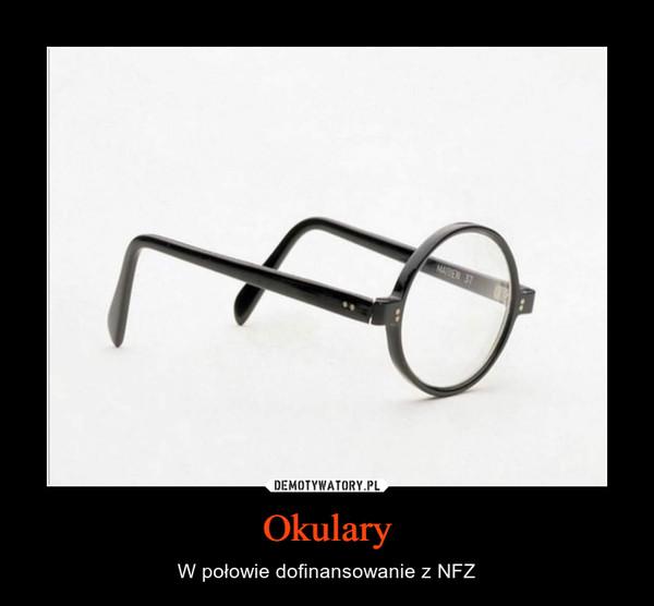 Okulary – W połowie dofinansowanie z NFZ