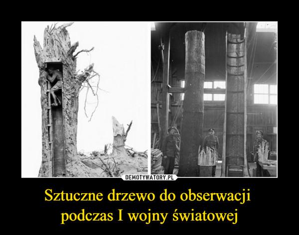 Sztuczne drzewo do obserwacji podczas I wojny światowej –