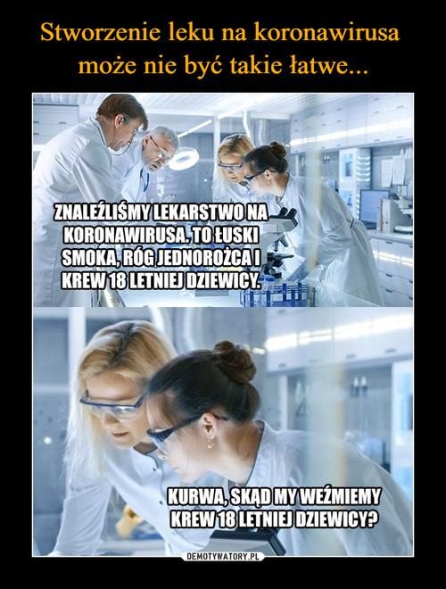 Stworzenie leku na koronawirusa  może nie być takie łatwe...
