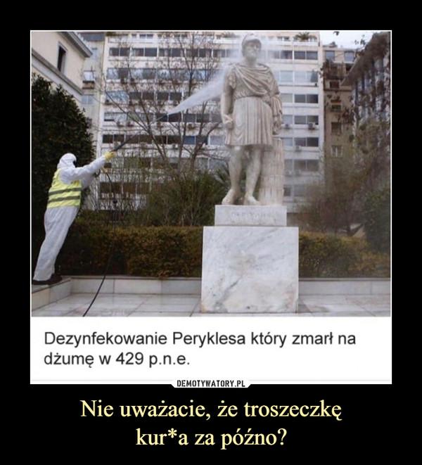 Nie uważacie, że troszeczkękur*a za późno? –  Dezynfekowanie Peryklesa który zmarł nadżumę w 429 p.n.e.