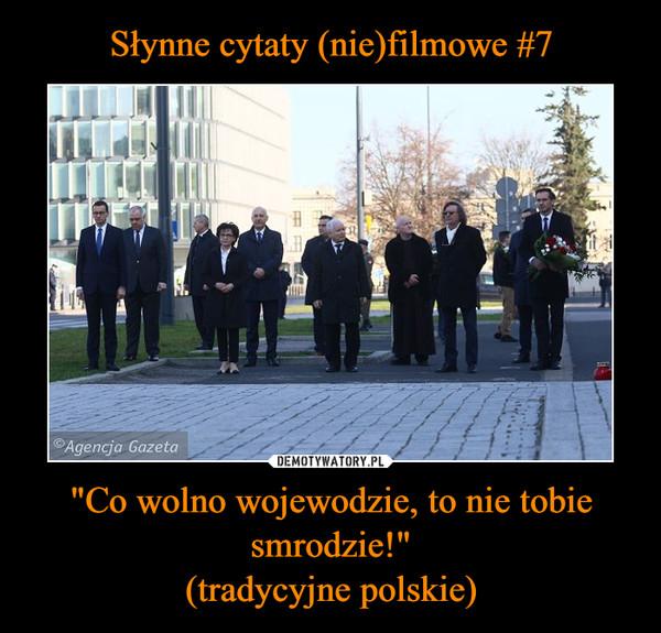 """""""Co wolno wojewodzie, to nie tobie smrodzie!""""(tradycyjne polskie) –"""