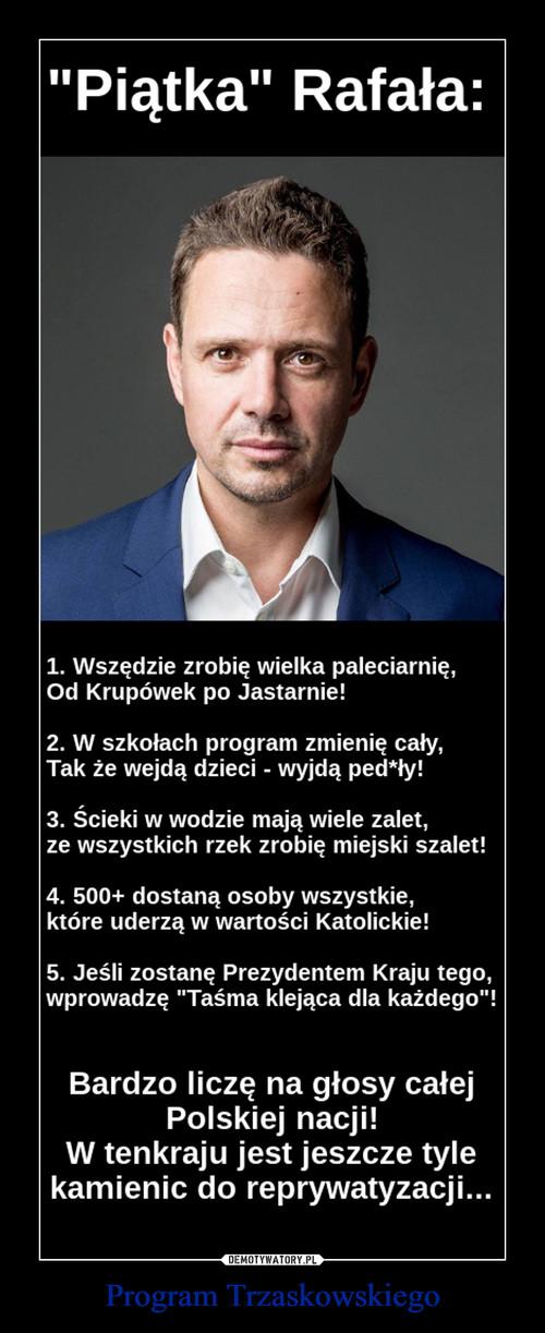 Program Trzaskowskiego