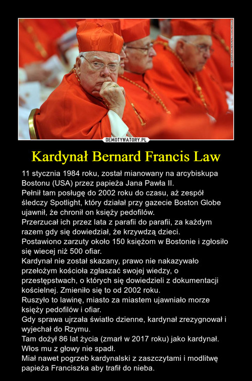 Kardynał Bernard Francis Law