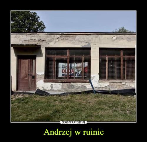 Andrzej w ruinie