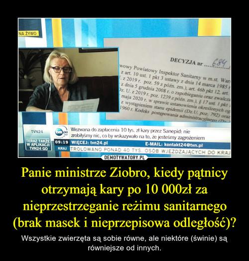 Panie ministrze Ziobro, kiedy pątnicy otrzymają kary po 10 000zł za nieprzestrzeganie reżimu sanitarnego (brak masek i nieprzepisowa odległość)?